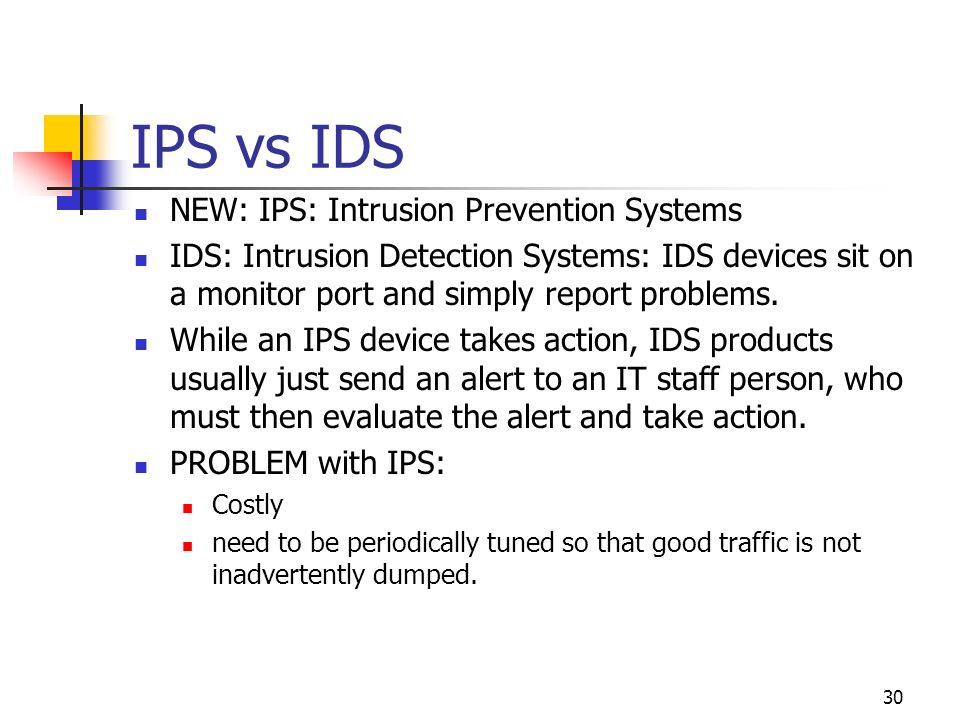 a report on intrusion detection systems ids and intrusion prevention systems ips Security: ids vs ips explained updated: march 18, 2014 layered security is the key to protecting any size network, and for most companies, that means deploying both intrusion detection systems (ids) and intrusion prevention systems (ips.