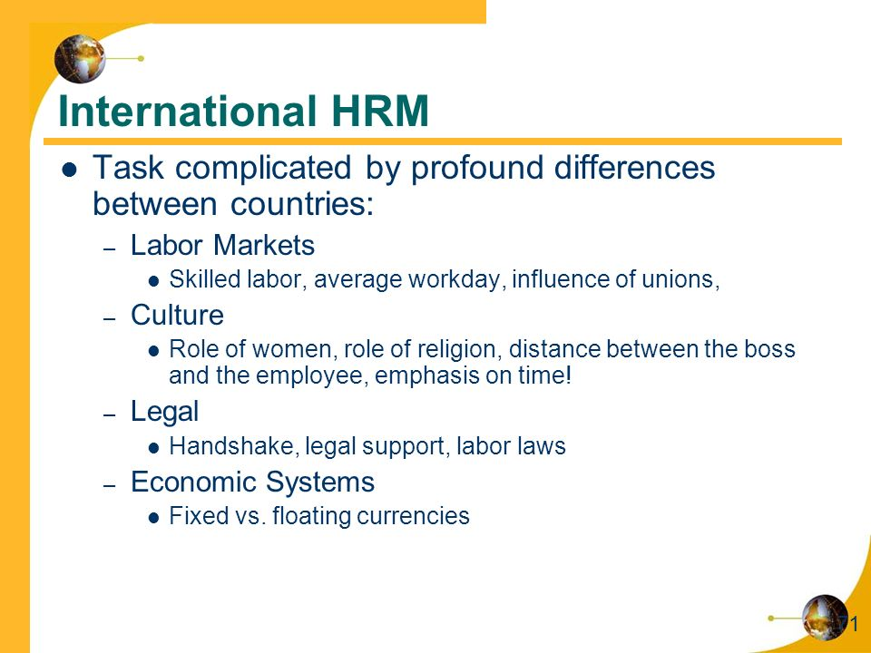 inter country differences affect hrm 2012-12-1  cultural differences influence the organisational  the culture of the host country cultural issues deeply affect hrm,  research and practice in human.