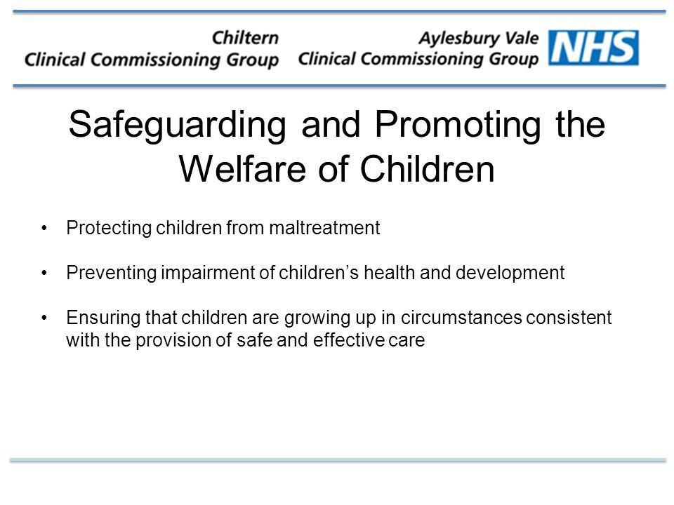 safeguarding the welfare o children The children and social work act 2017 provides that the purpose of local child safeguarding practice reviews is to identify any improvements that should be made locally to safeguard and promote the welfare of children.