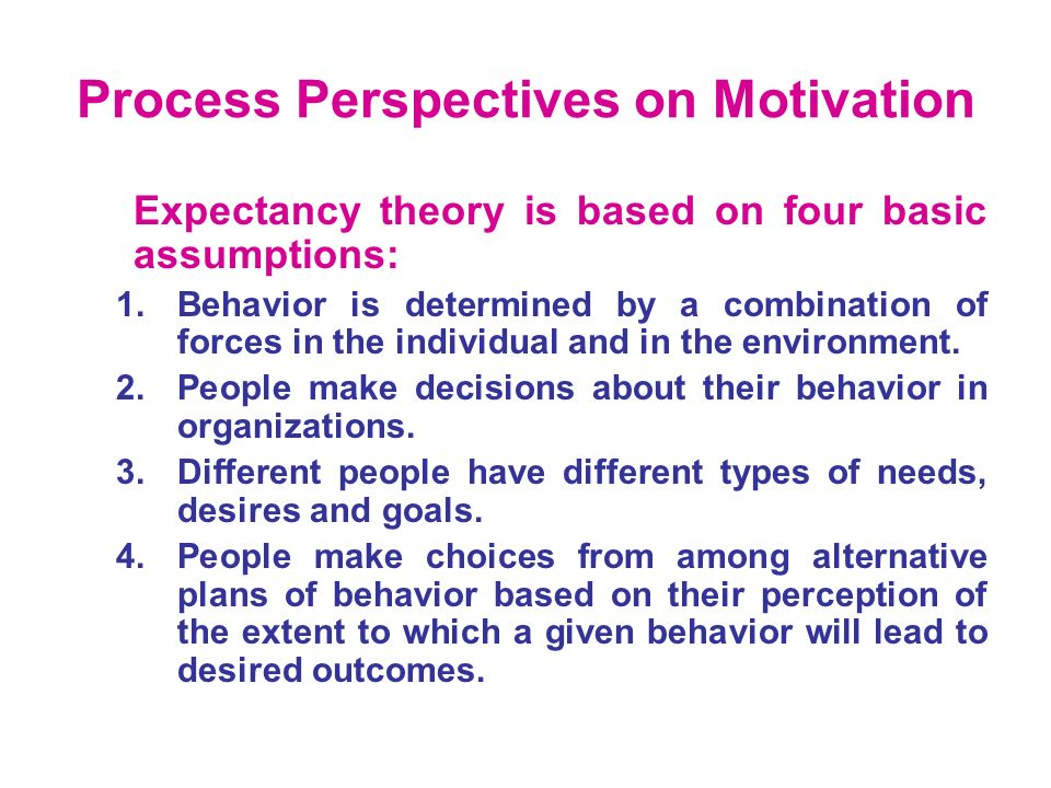 different perspectives related to behavior and motivation The motivation for a behavior may also be  there are two different categories of motivation  discuss how different perspectives and approaches to managing.