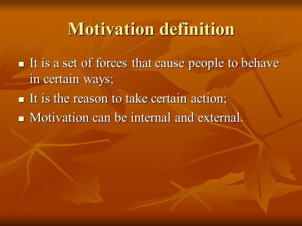 Motivation definition