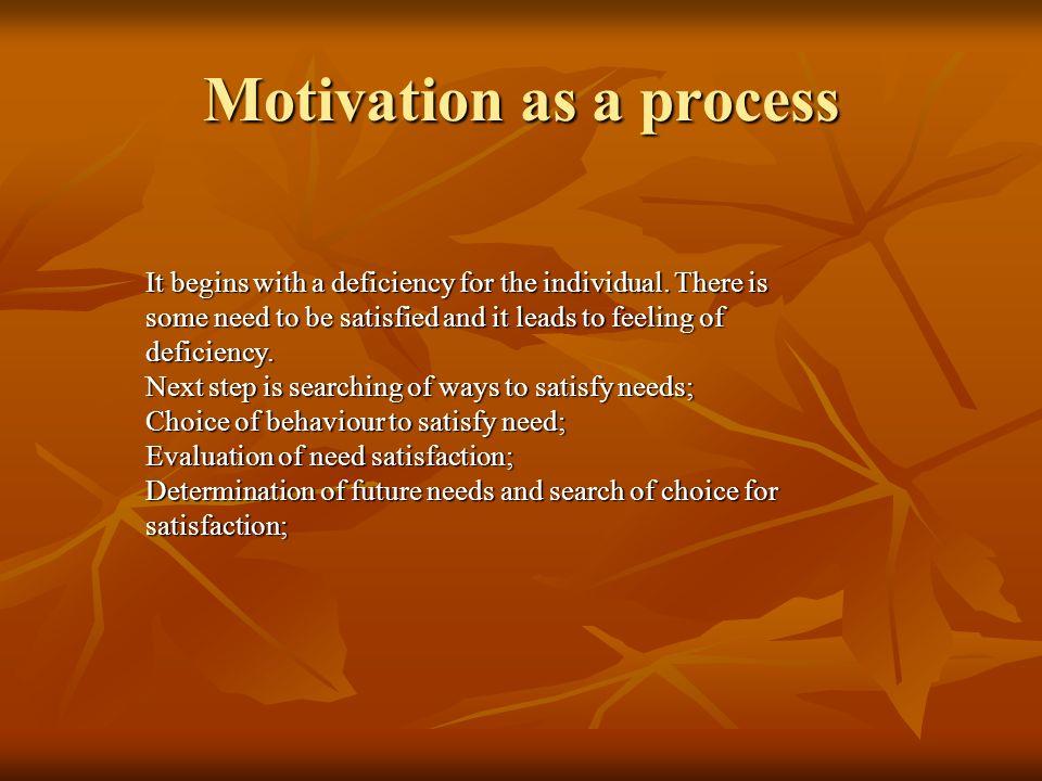 Motivation as a process
