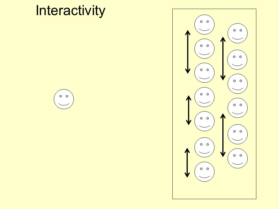 Interactivity 3. Give student learning activities , individuals – problems, tasks,- or small groups even in lecture halls – discuss, compare, agree…