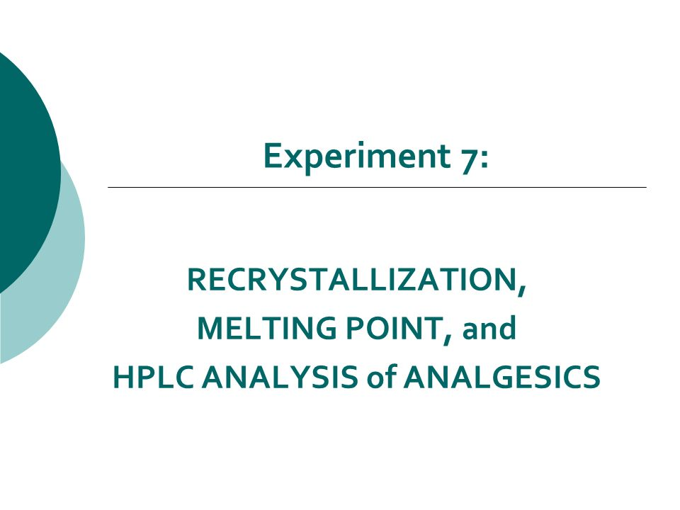 melting point and recrystallization