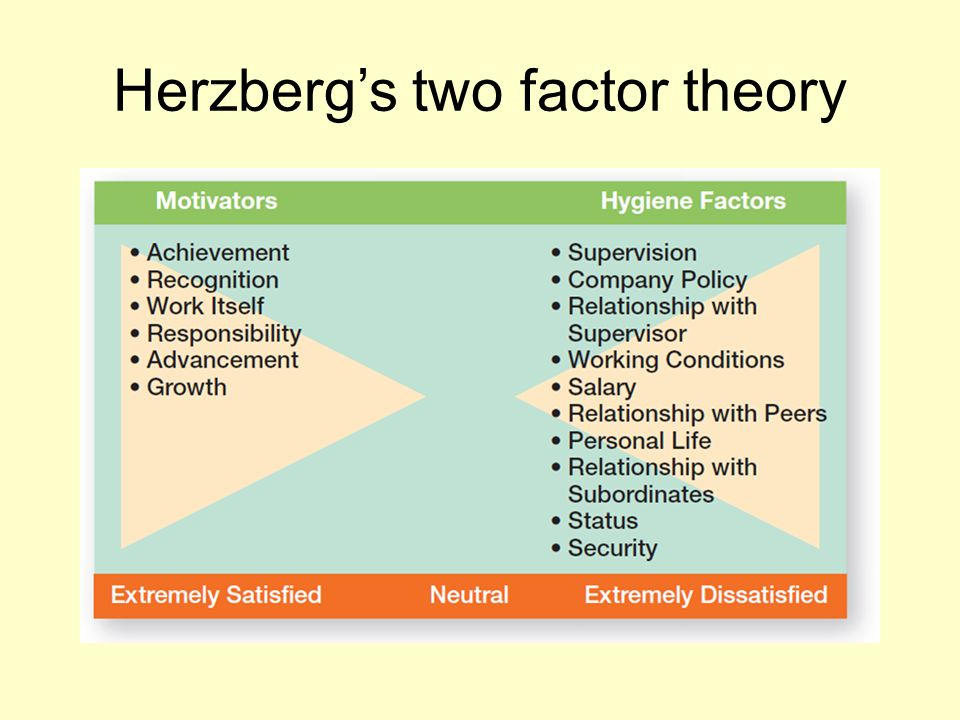 two factors in evaluating leadership In leadership, motivation theories play a key part in organisational behaviour and creating team success herzberg argues that there are two main factors that people take into consideration when they are motivated.
