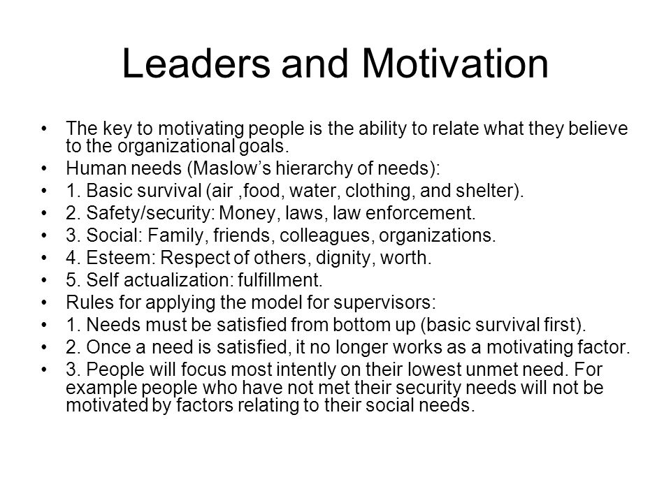 Applying theories of leadership organizations and motivation