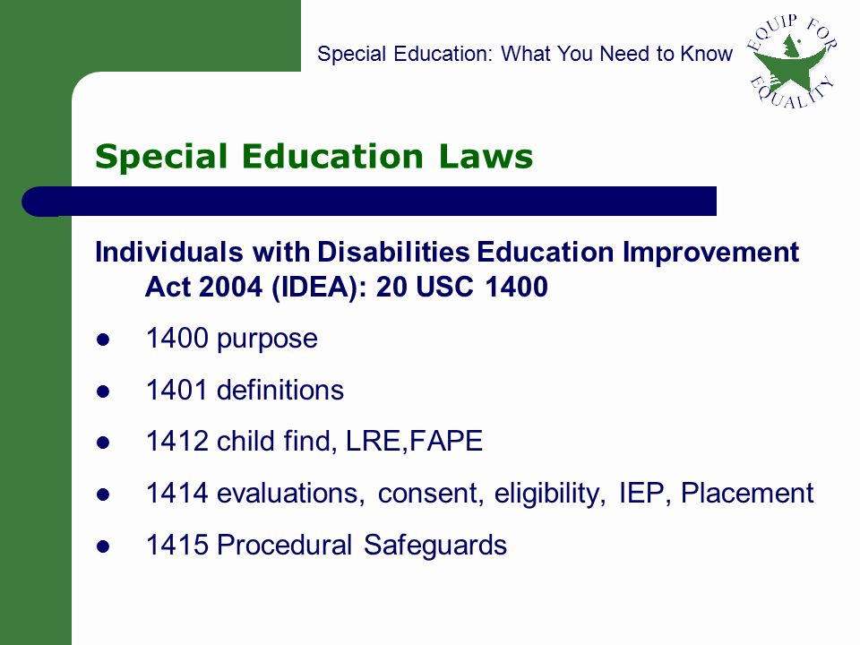 SPECIAL EDUCATION: Wha...