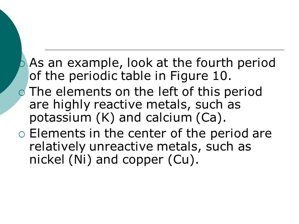 Organizing the elements ppt download as an example look at the fourth period of the periodic table in figure 10 urtaz Choice Image