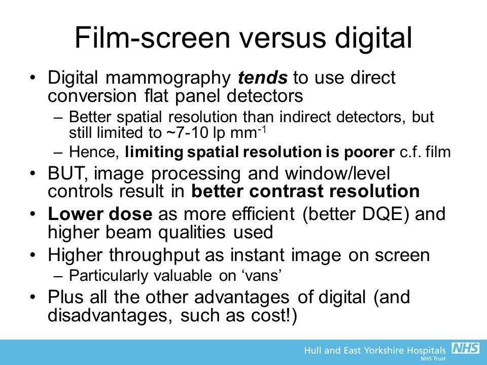 Film-screen versus digital