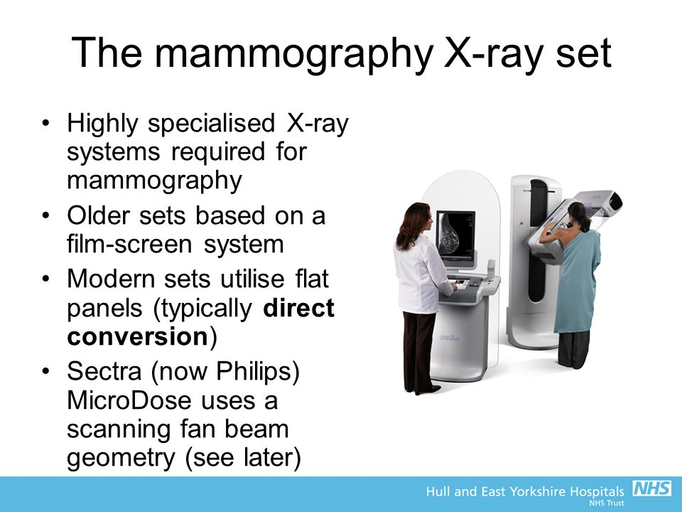 The mammography X-ray set