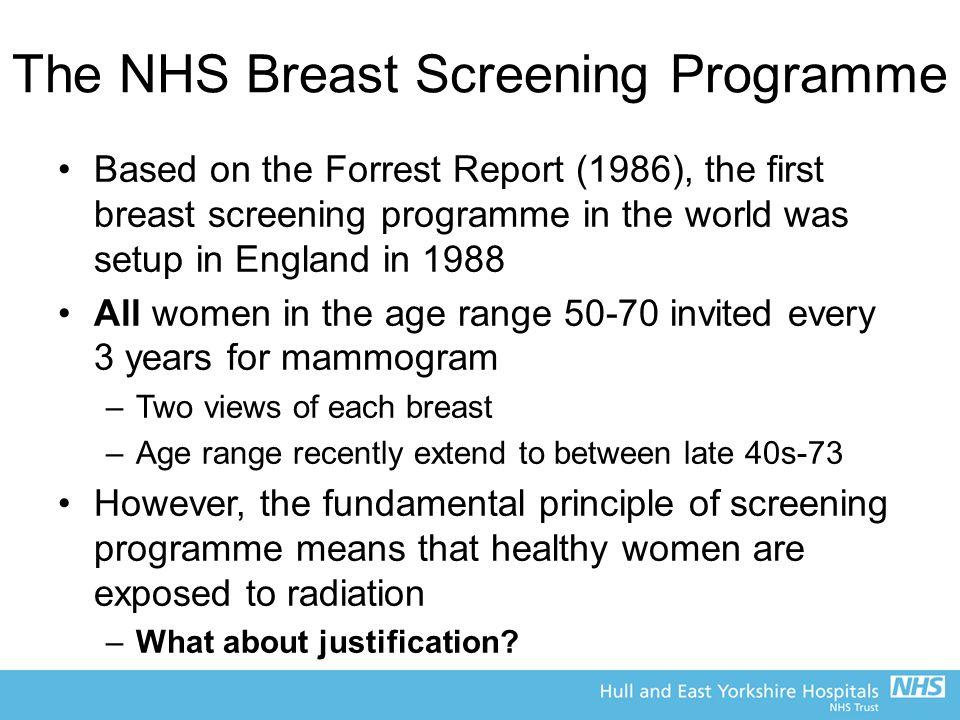 The NHS Breast Screening Programme
