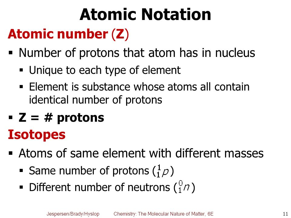 how to get atomic number proton ex from the element