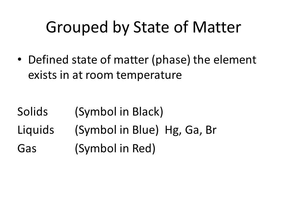State Of Matter At Room Temperature Potassium