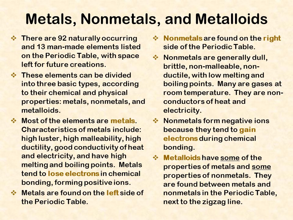 Periodic Table physical properties of elements on the periodic table luster : The Periodic Table of the Elements - ppt download