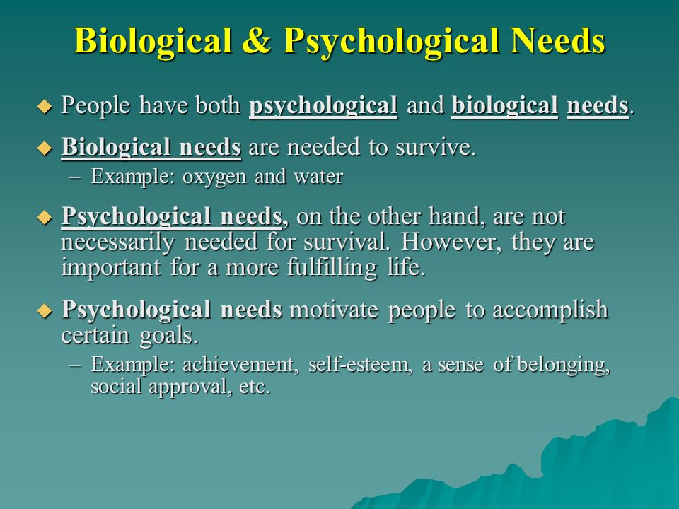 how do social needs motivate behavior Needs theories attempt to identify internal factors that motivate an individual's behavior and are based on the premise that people are motivated by unfulfilled needs for example, if you were .