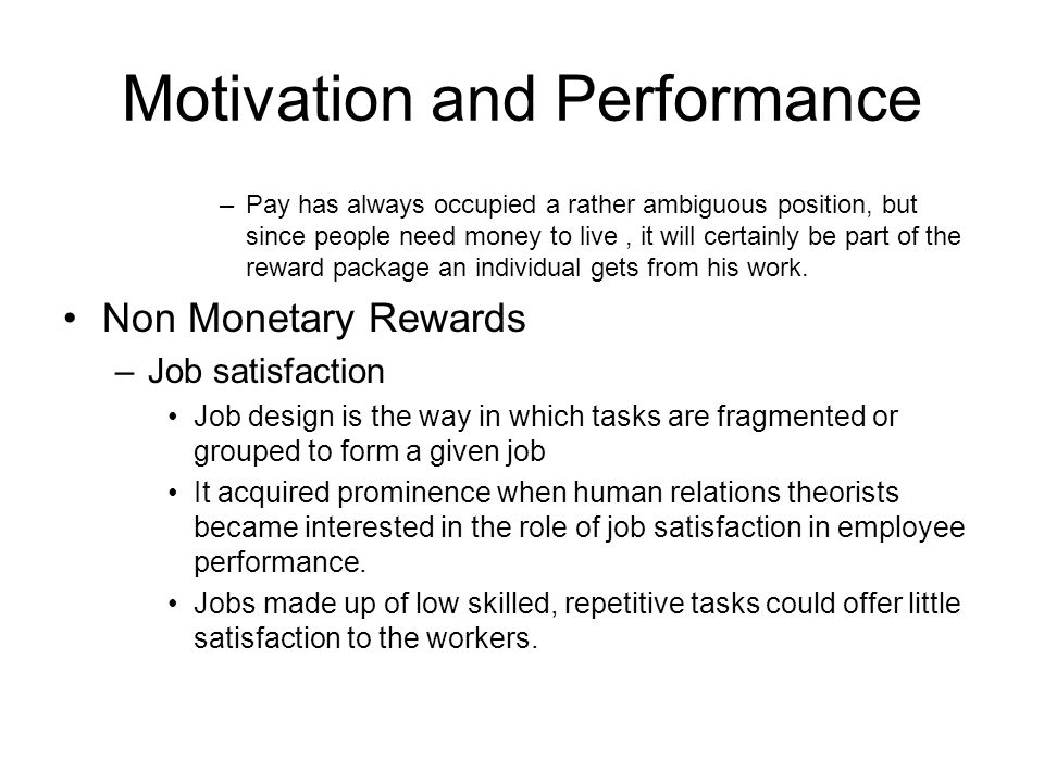 motivation and performance Motivation is thought to be a combination of the drive within us to achieve our aims and the outside factors which affect it with this in mind, motivation has.