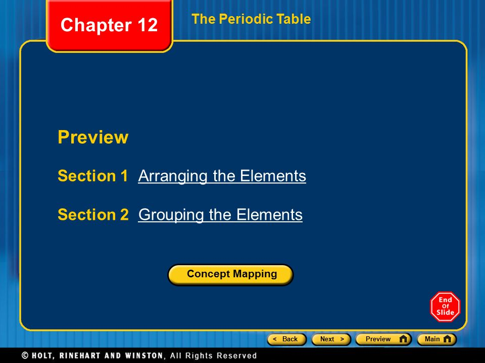 Chapter 12 Preview Section 1 Arranging The Elements Ppt Video