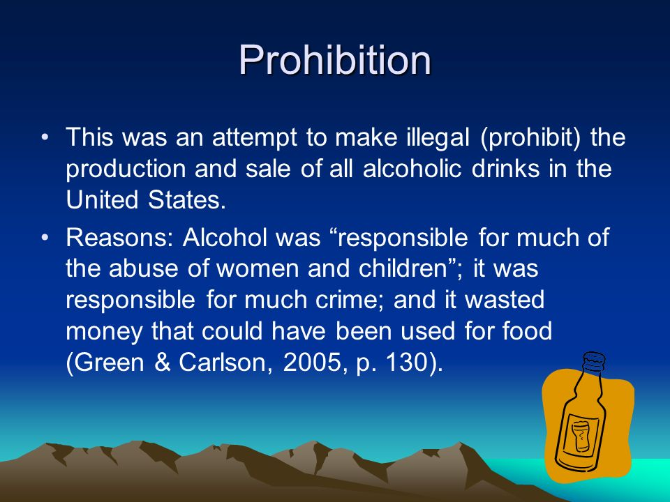 outcomes of alcohol prohibition in the united states Effects of prohibition weren't what temperance activists promised the negative  effects of prohibition were very serious and plague us today.