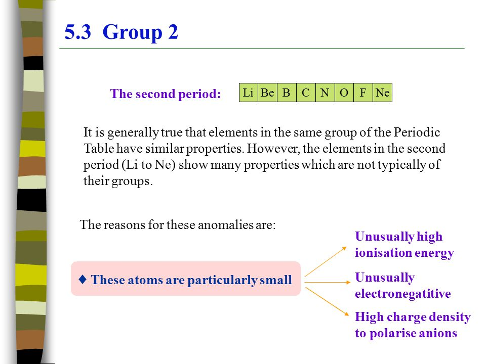 Chapter 5 the periodic table group2 ppt video online download 53 group 2 the second period urtaz Gallery