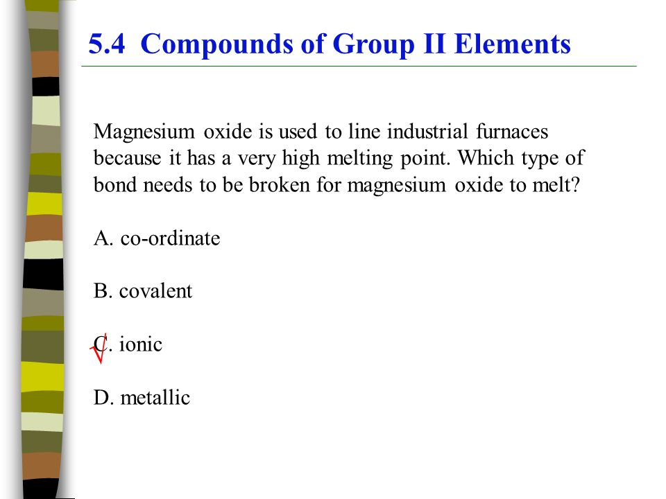 Magnesium Oxide Uses : Chapter the periodic table group ppt video online