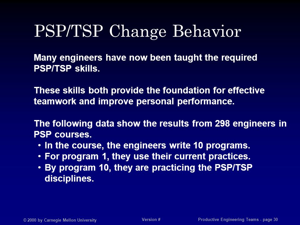Behavioral changes as a result of training or coursework