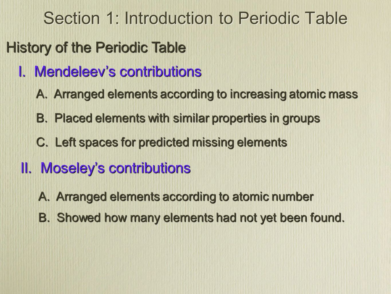 Section 1 introduction to the periodic table ppt video online section 1 introduction to periodic table gamestrikefo Images