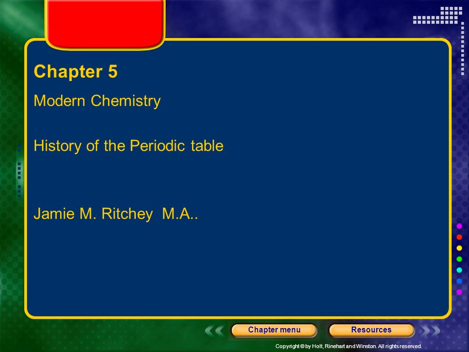 Chapter 5 modern chemistry history of the periodic table ppt download chapter 5 modern chemistry history of the periodic table urtaz Images