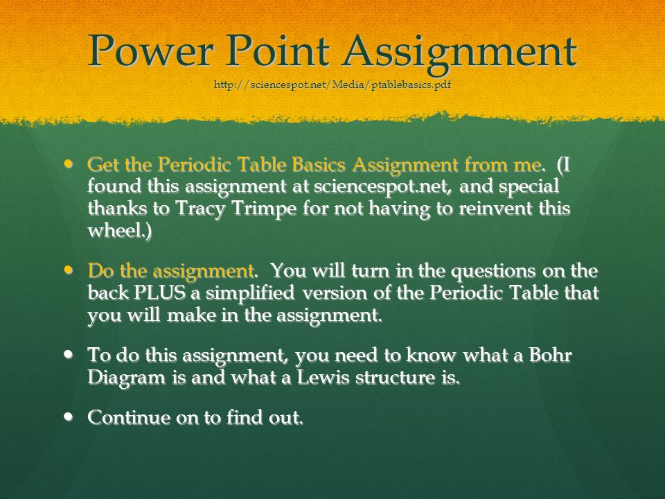 Atomic structure and the periodic table ppt download power point assignment httpsciencespotmediaptablebasicspdf urtaz Choice Image