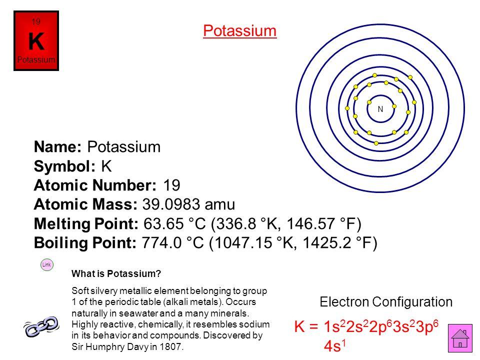 K Electron Configuration Periodic Table ...