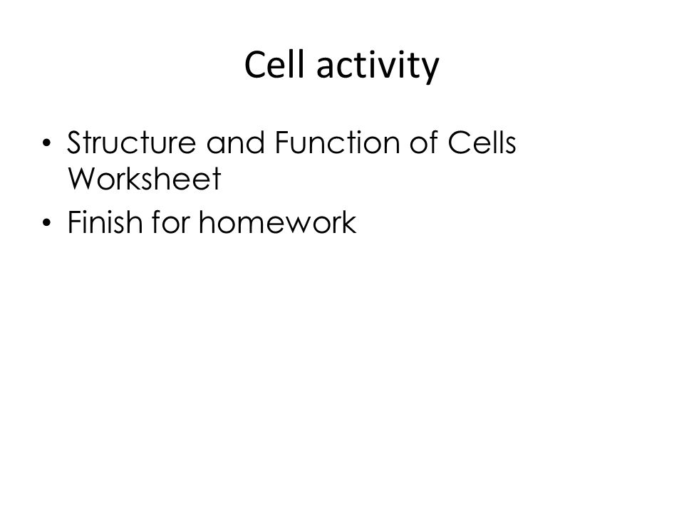Cell Structure and Function ppt video online download – Cell Function Worksheet