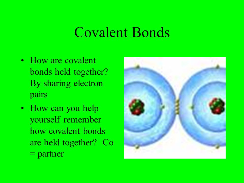 how to remember the element bonds