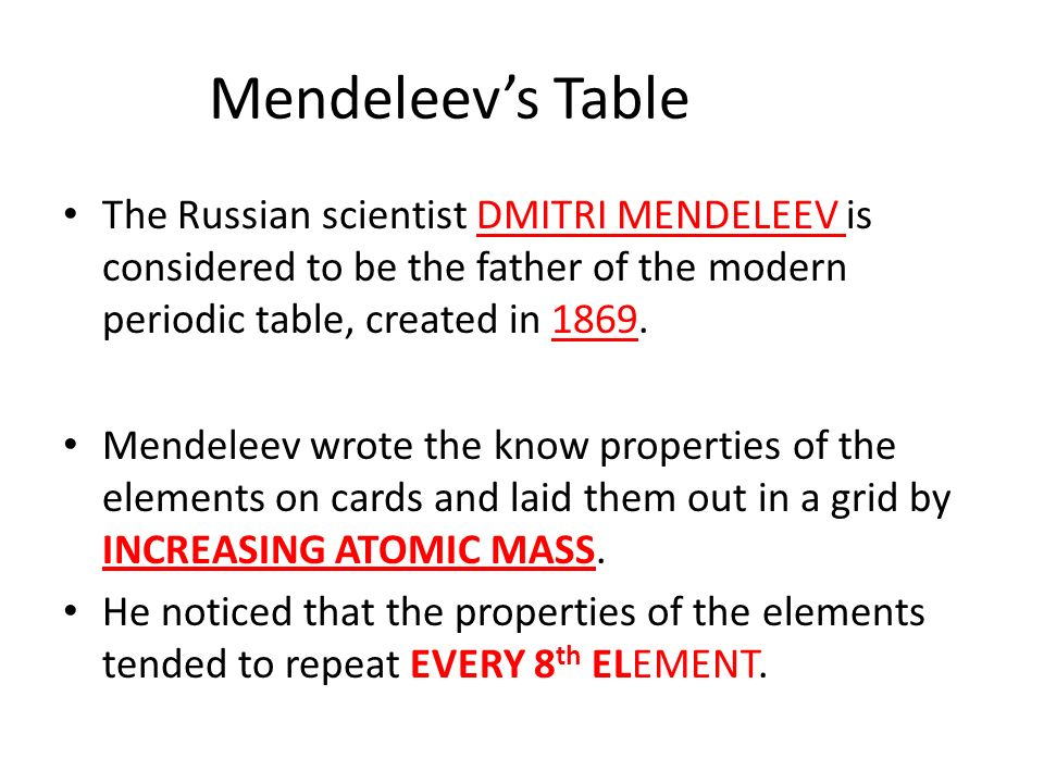 Periodic table periodic table creator online periodic table of periodic table periodic table creator online the periodic table ppt video online download urtaz Gallery