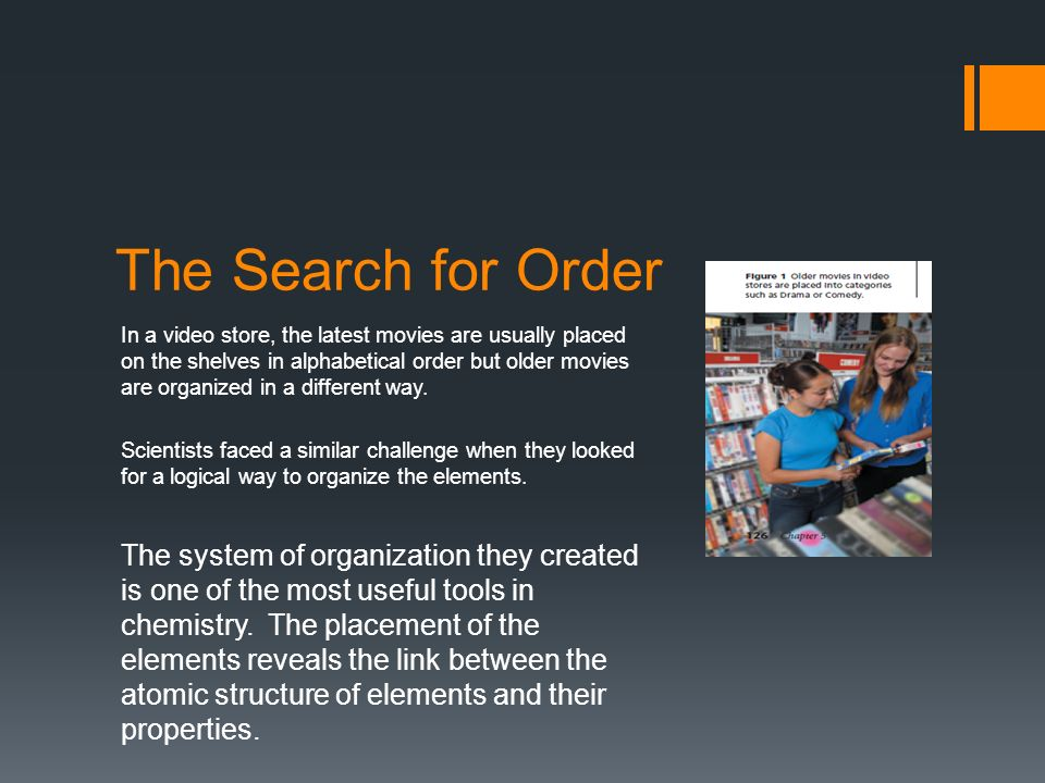 The periodic table ppt video online download the search for order urtaz Image collections