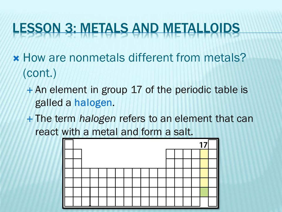 Chapter 7 The periodic table. - ppt video online download