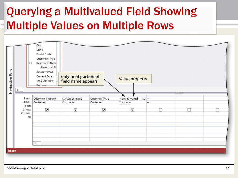 Querying a Multivalued Field Showing Multiple Values on Multiple Rows