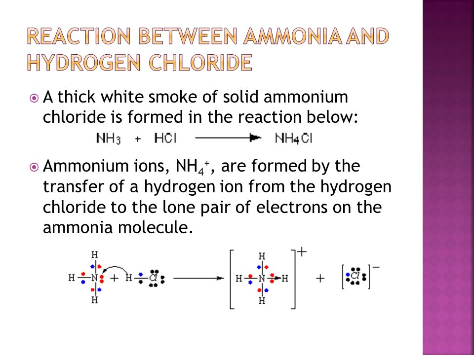 oxygen and miscellaneous reaction ammonia This reaction is the extremely important nitrogen fixation reaction that describes how nitrogen in the air is converted in certain types of plants to ammonia, which is later incorporated into amino acids and proteins.