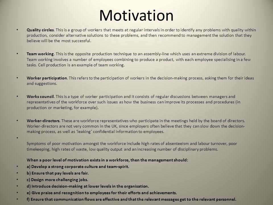 Motivation & Employee Performance