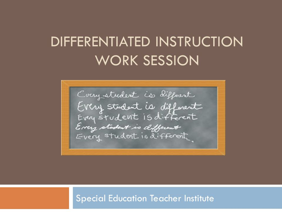 Differentiated Instruction Work Session Ppt Video Online Download
