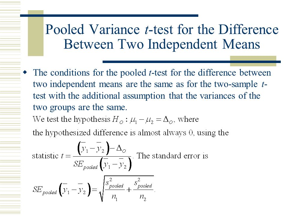 Chapter 24: Comparing Means. - ppt download