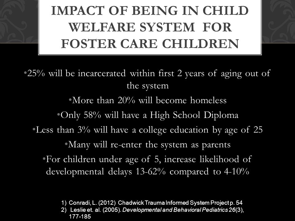 the impact of foster care on Foster care's primary mission – providing a suitable home environment for children in need – has stood the test of time, but many other aspects of foster care in the us have evolved substantially since its inception in our early history.