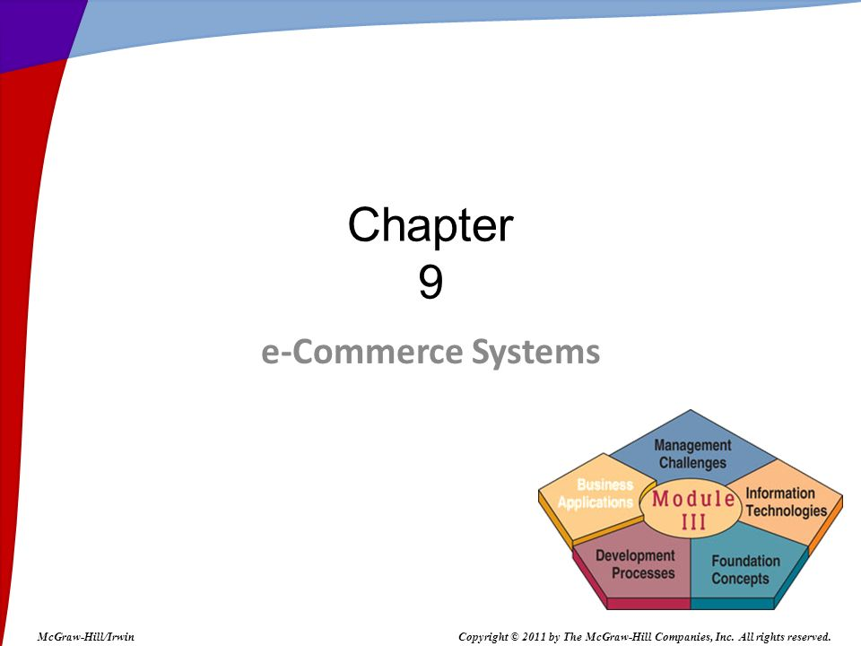 Chapter 9 e-Commerce Systems McGraw-Hill/Irwin