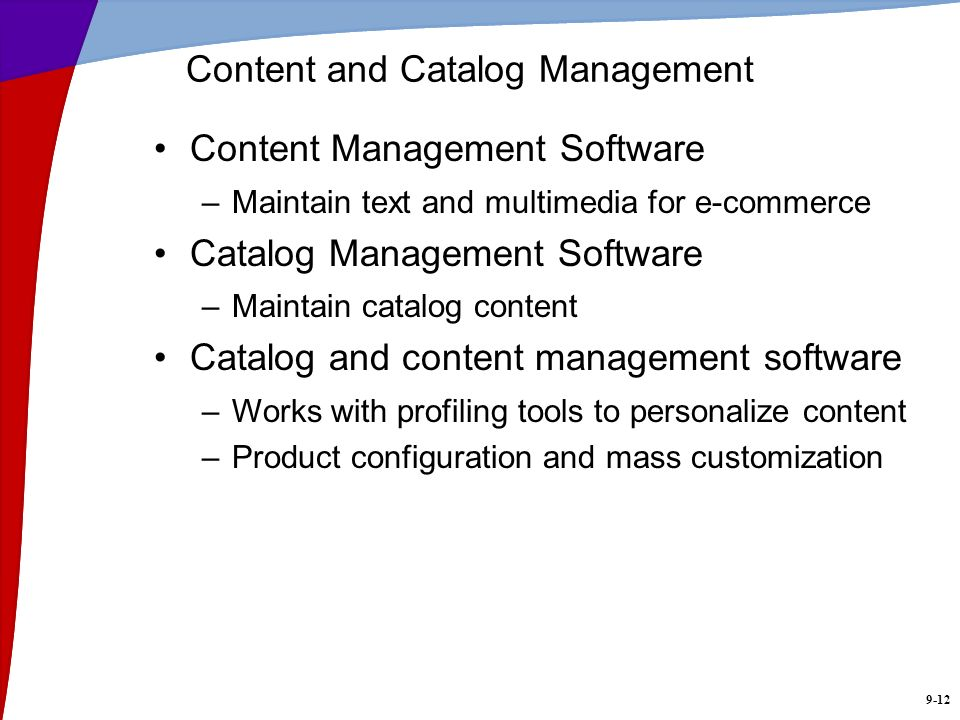 Content and Catalog Management