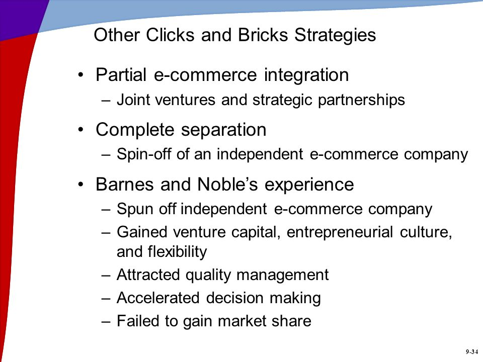 Other Clicks and Bricks Strategies