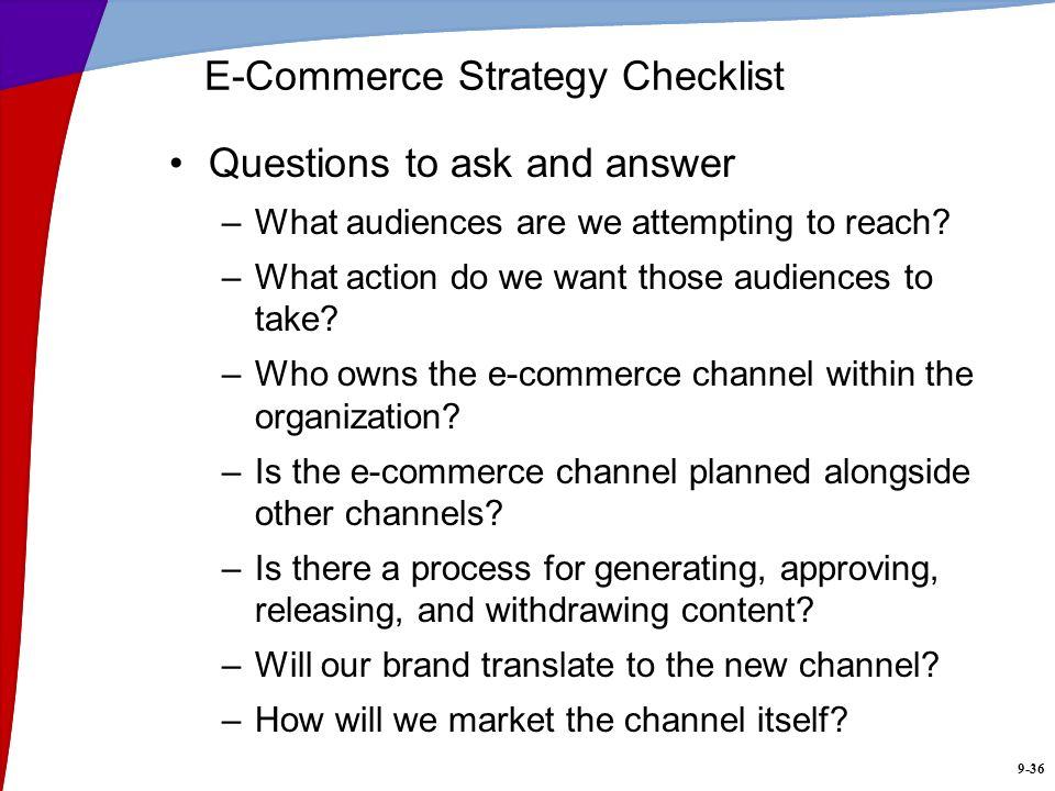 E-Commerce Strategy Checklist