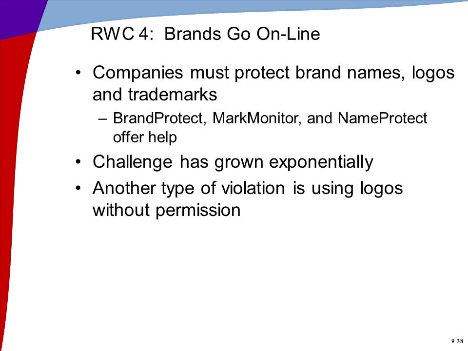 Companies must protect brand names, logos and trademarks