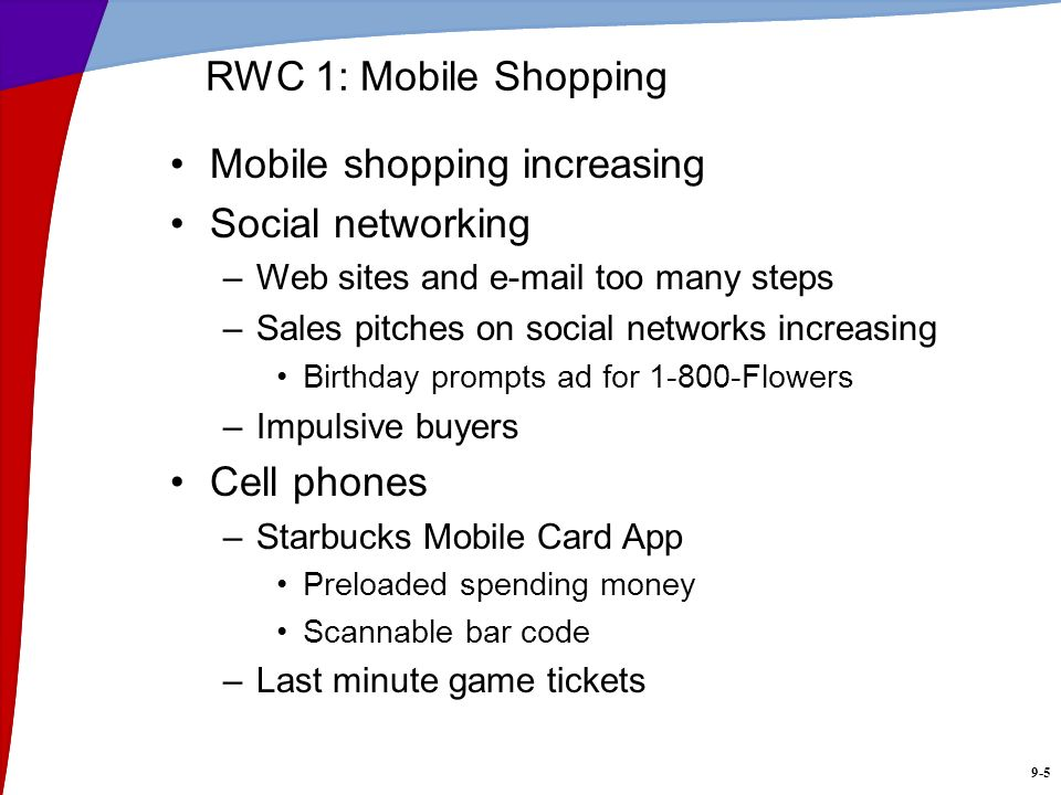 Mobile shopping increasing Social networking