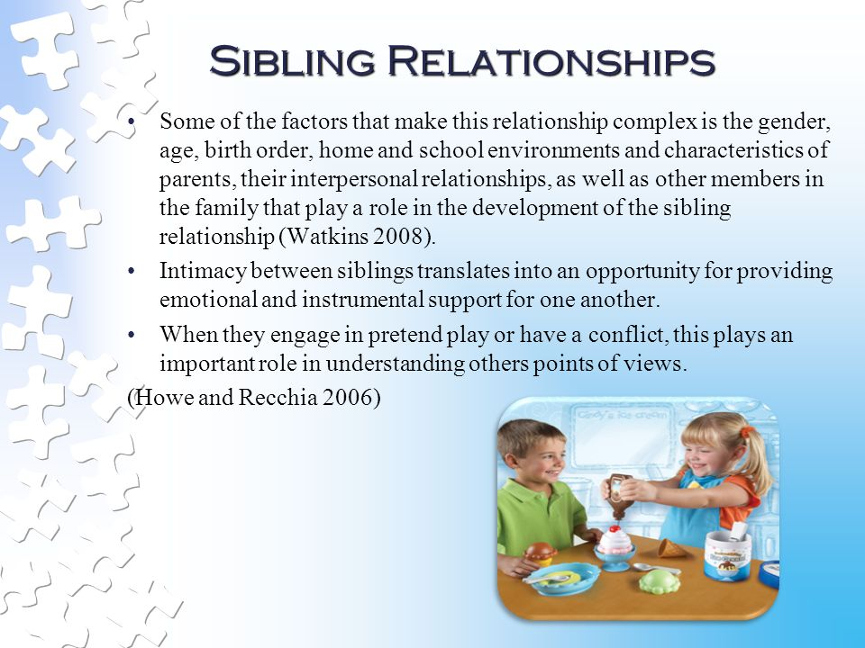 sibling relationships and parental conflict in divorced families Sibling differentiation: sibling and parent relationship trajectories in adolescence  sibling conflict and relationship  in divorce and parental separation .