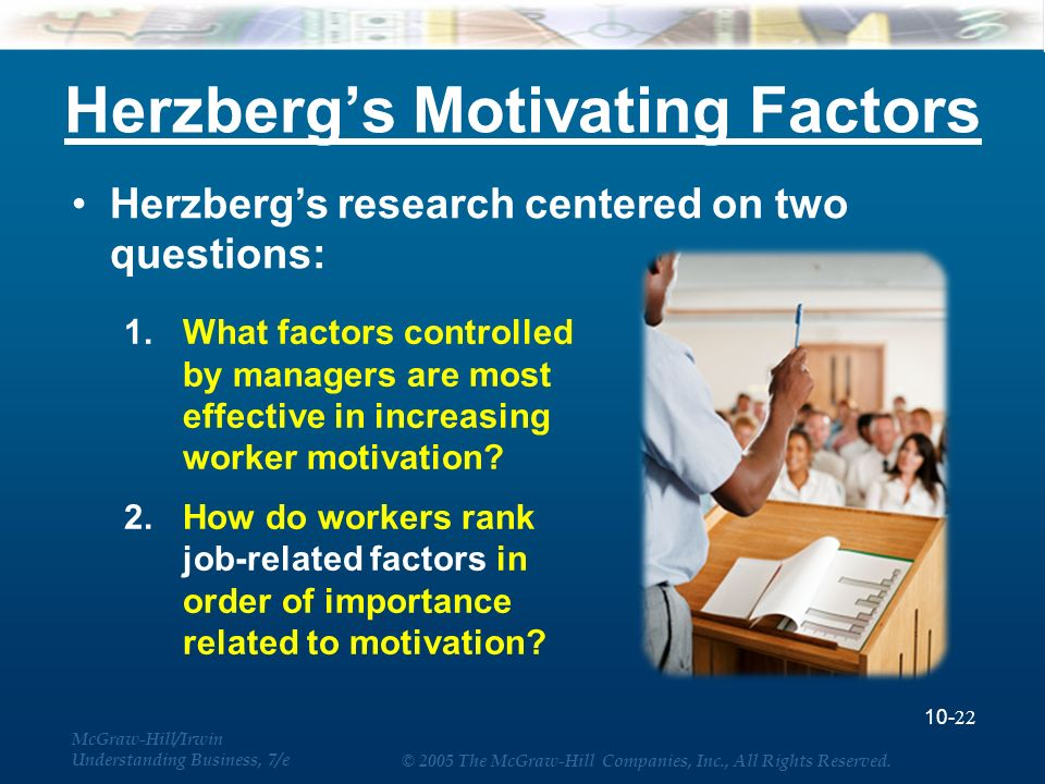 what factors motivate employees