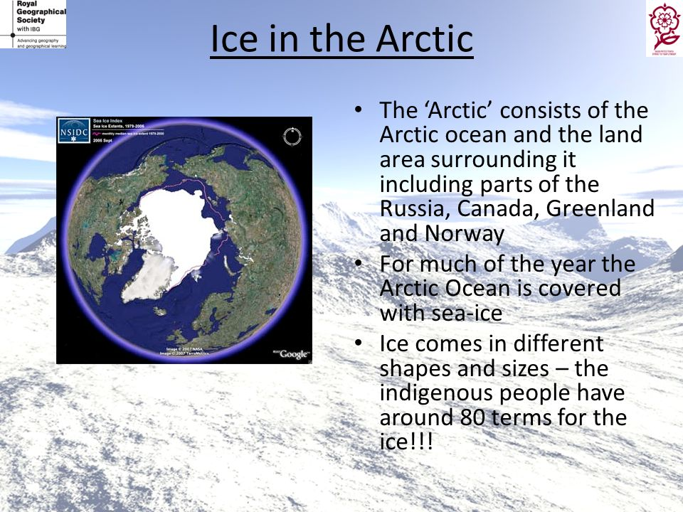 Ice in the Arctic