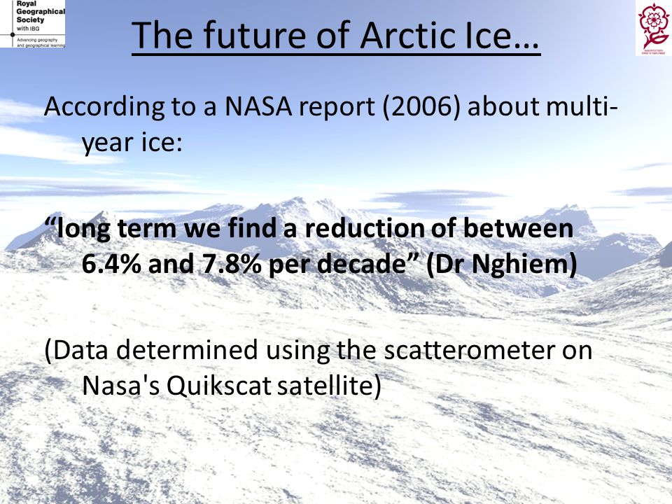 The future of Arctic Ice…